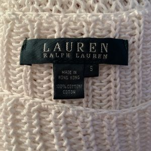 LAUREN RALPH LAUREN- Cotton Knit Sweater. Size S